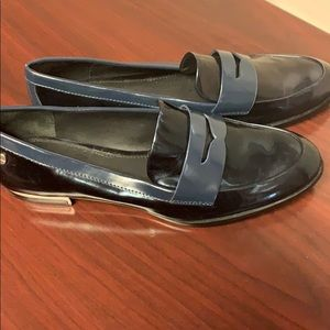 Calvin Klein loafers NWT black with navy size 7